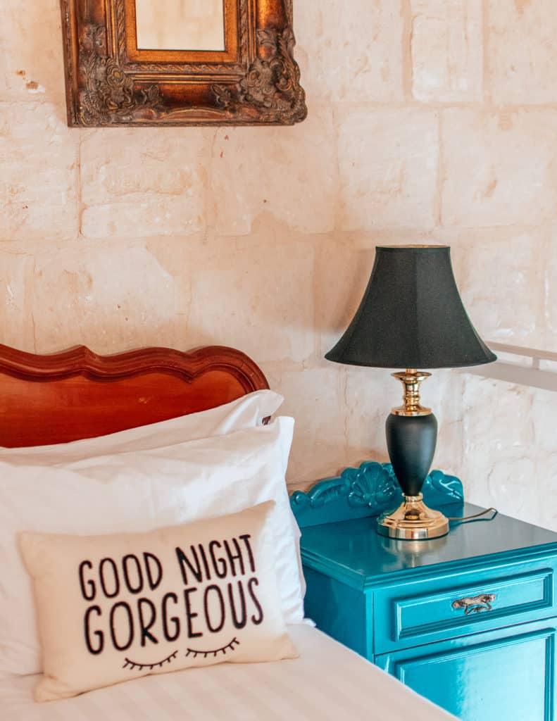 Bedside in Anne room Valletta Lucente