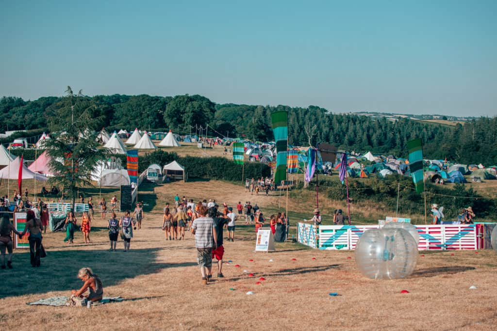 Wonder Fields Festival camping area
