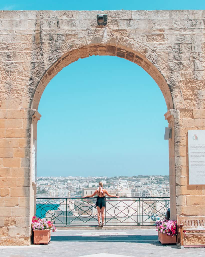 archway Upper Barrakka Gardens, what to see in Malta