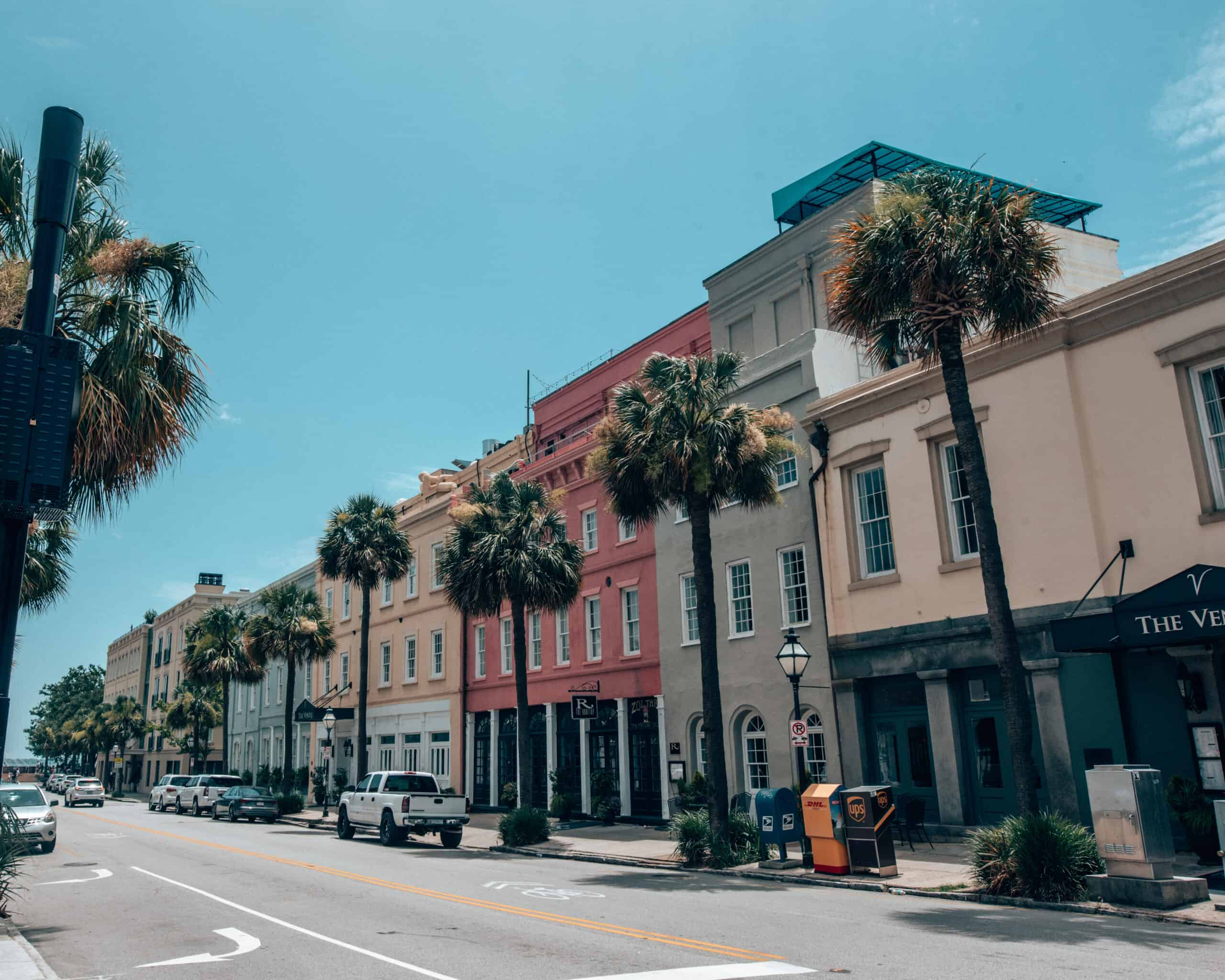 Downtown Charleston houses