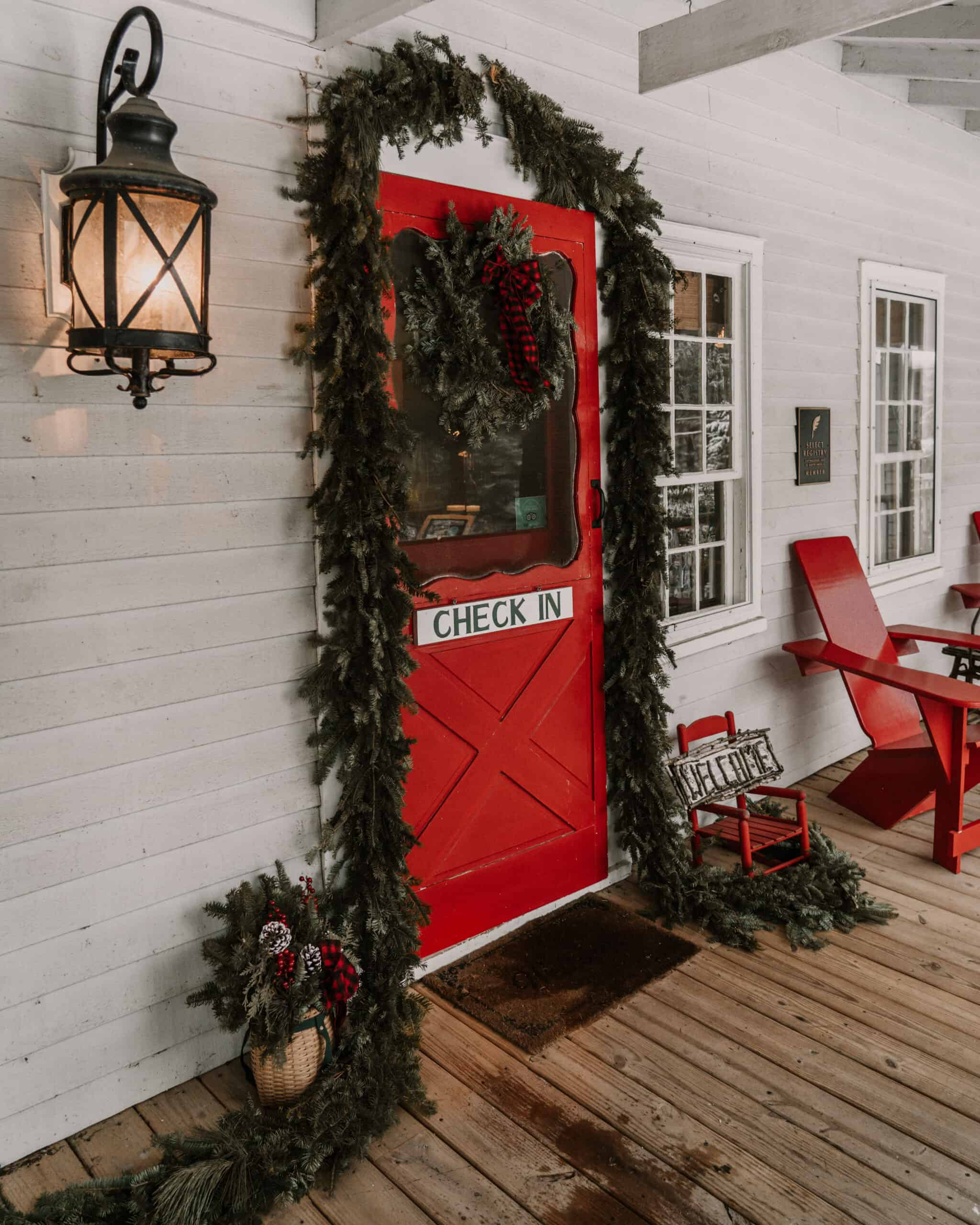 Entrance at Lake Placid Stagecoach Inn