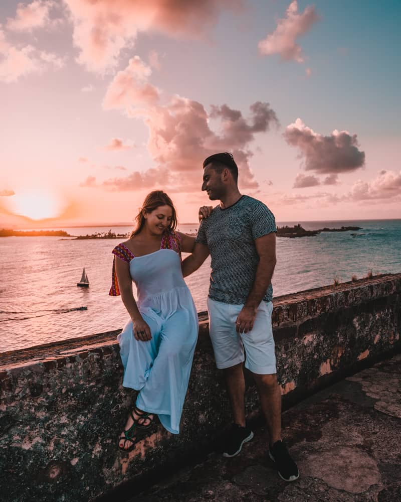 couple at Castillo San Felipe del Morro