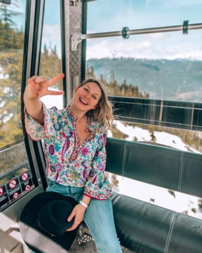 girl sitting in gondola