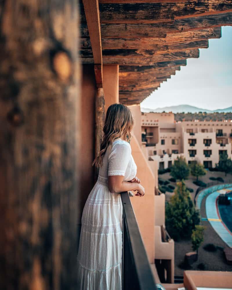 girl on hotel balcony