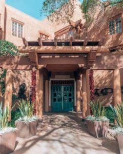 hotel Santa Fe entrance door