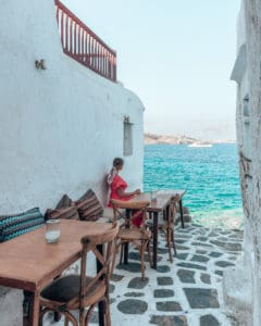 table with a Seaview