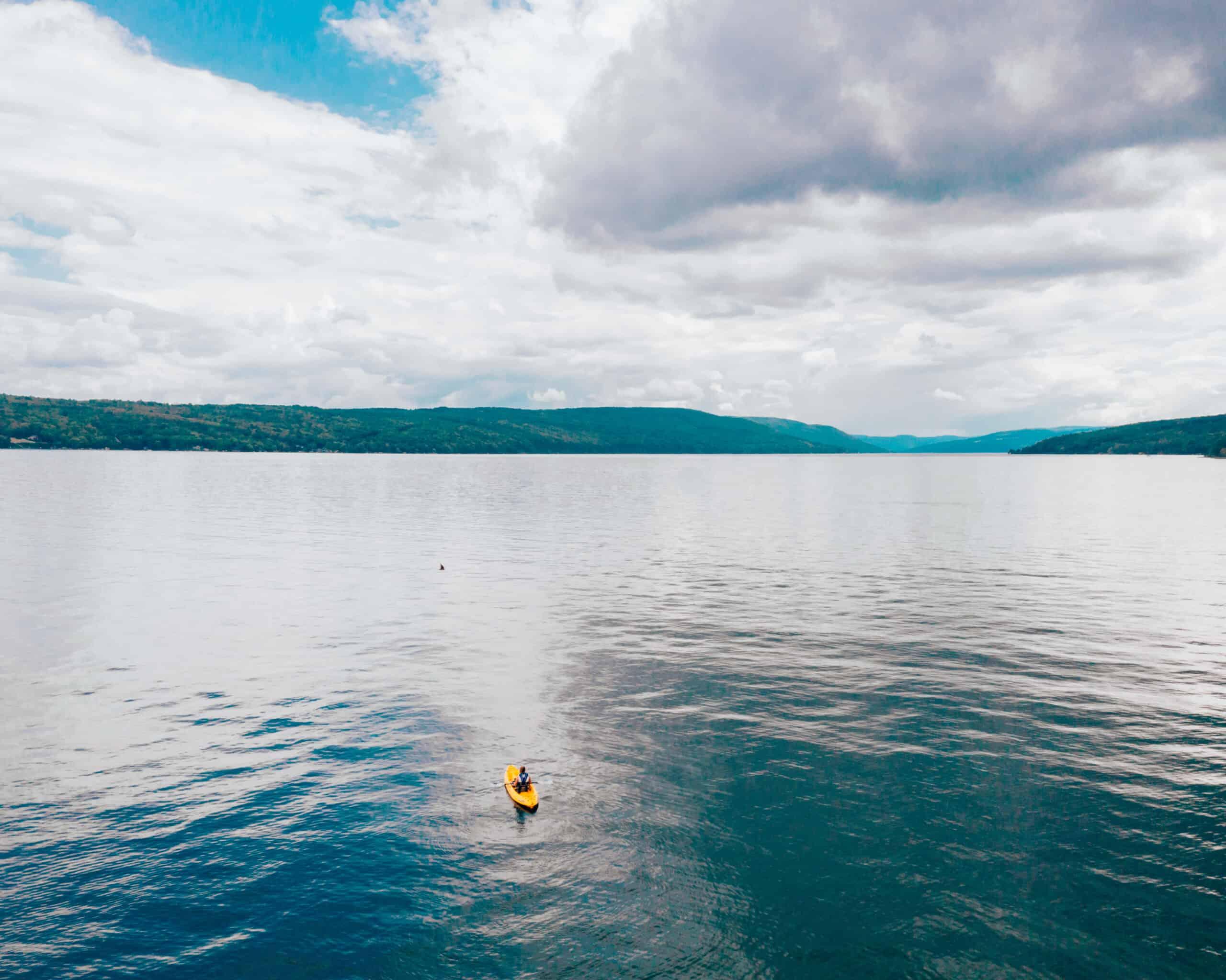 Kayaking on Canandaigua Lake