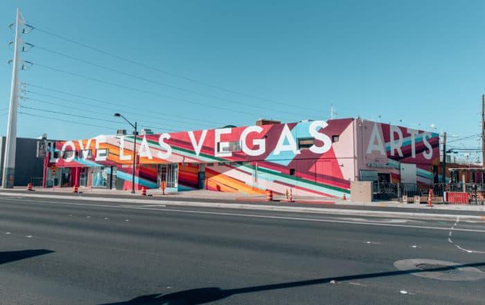 building in Las Vegas Arts District