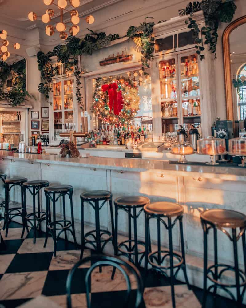 cute bar with stools