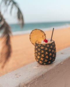 pina coolada in pineapple