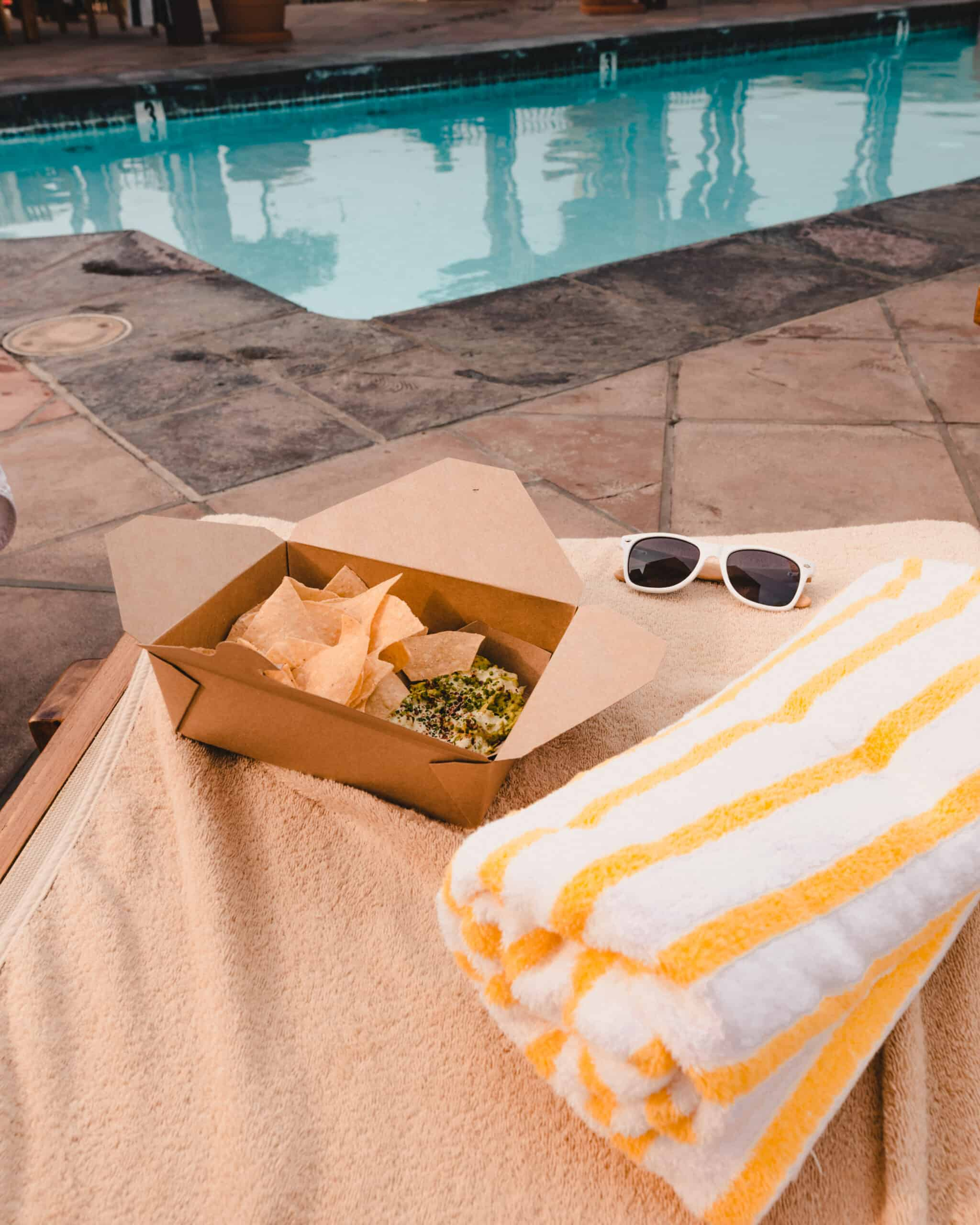 Kimpton Canary Hotel pool snack