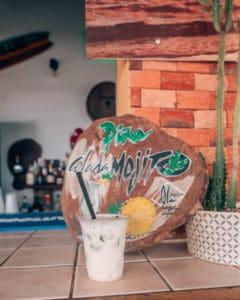mojito on bar