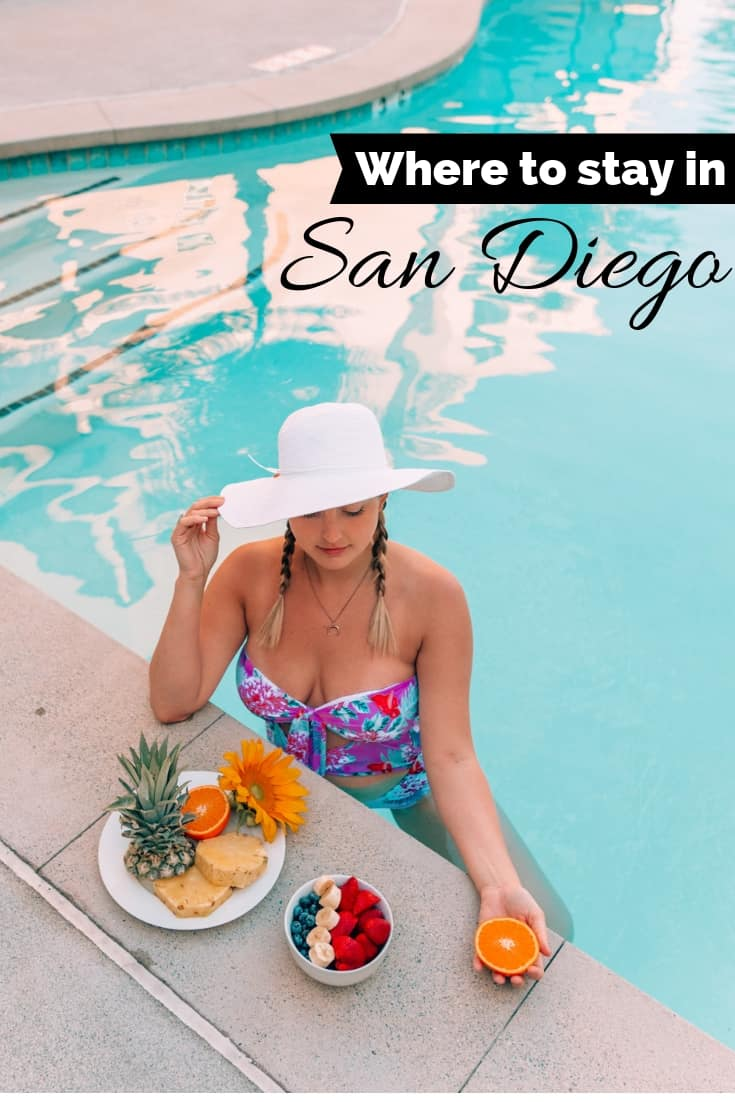 girl with hat at sonder apartment pool