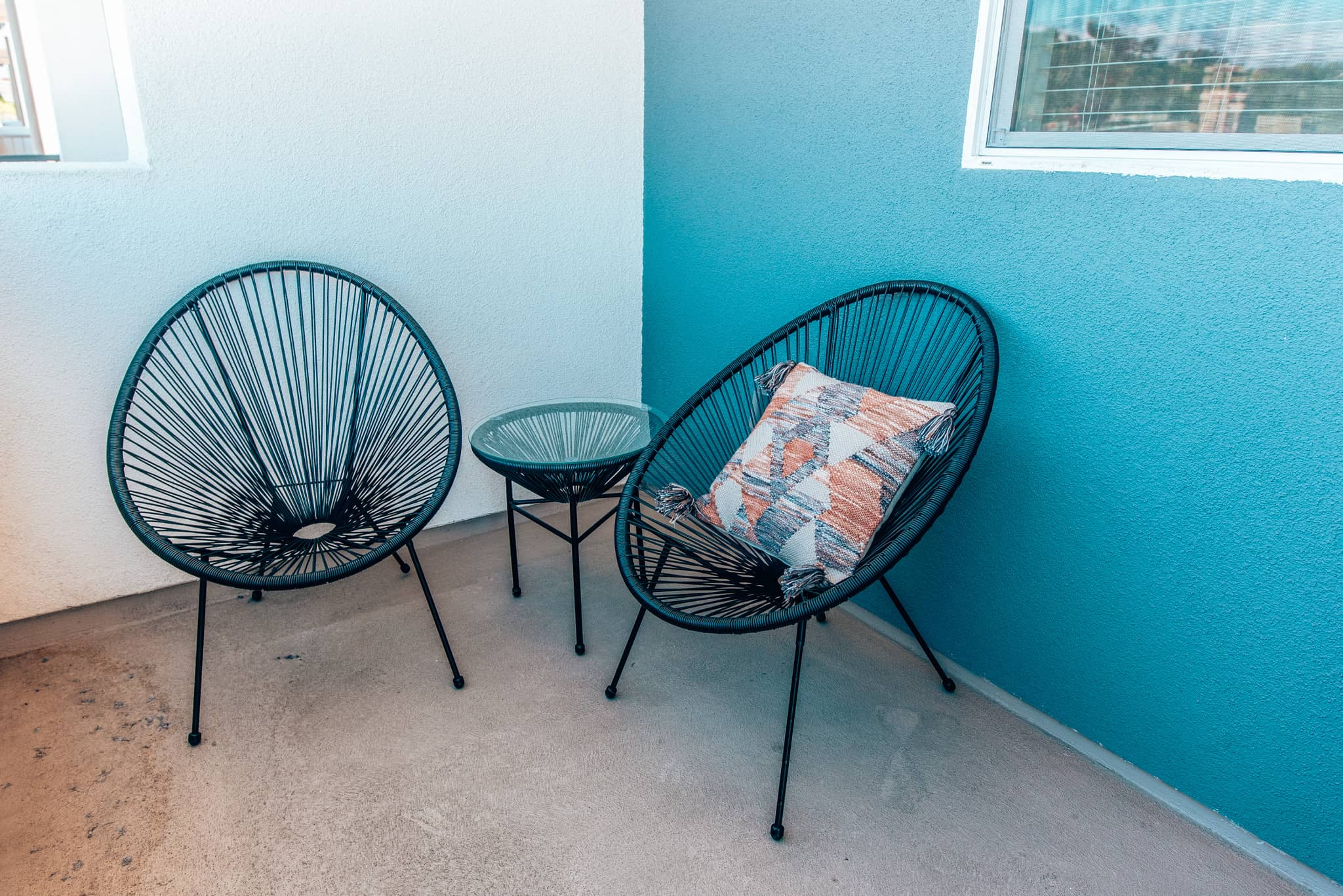 2 chairs on terrace