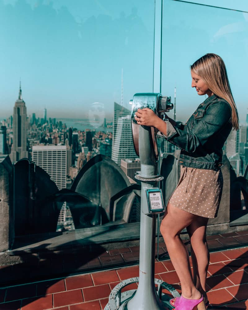 looking out from top of the rock one of the best Instagram spots in NYC
