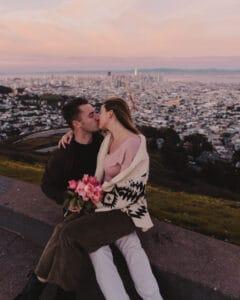 Couple at Twin Peaks, San Francisco, California