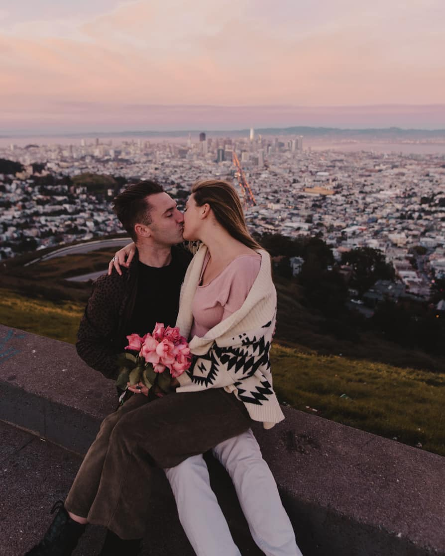 Couple at Twin Peaks, San Francisco, California