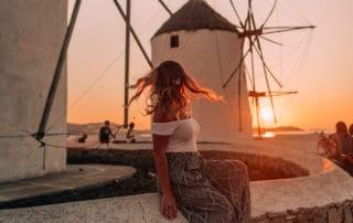sunrise windmills